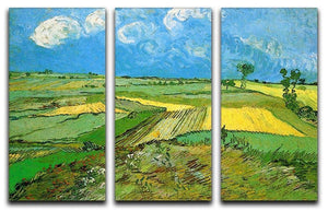 Wheat Fields at Auvers Under Clouded Sky by Van Gogh 3 Split Panel Canvas Print - Canvas Art Rocks - 4