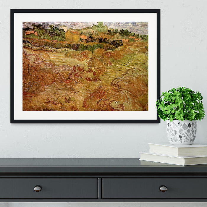 Wheat Fields with Auvers in the Background by Van Gogh Framed Print