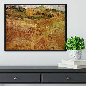 Wheat Fields with Auvers in the Background by Van Gogh Framed Print - Canvas Art Rocks - 2
