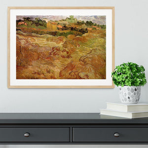 Wheat Fields with Auvers in the Background by Van Gogh Framed Print - Canvas Art Rocks - 3