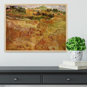Wheat Fields with Auvers in the Background by Van Gogh Framed Print - Canvas Art Rocks - 4