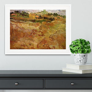 Wheat Fields with Auvers in the Background by Van Gogh Framed Print - Canvas Art Rocks - 5