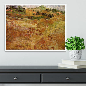 Wheat Fields with Auvers in the Background by Van Gogh Framed Print - Canvas Art Rocks -6