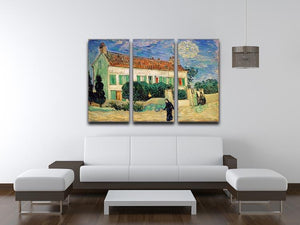 White House at Night 3 Split Panel Canvas Print - Canvas Art Rocks - 4