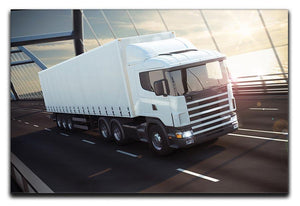White Lorries Canvas Print or Poster  - Canvas Art Rocks - 1