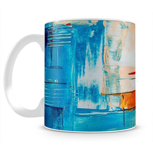 White Red and Blue Abstract Painting Mug - Canvas Art Rocks - 2