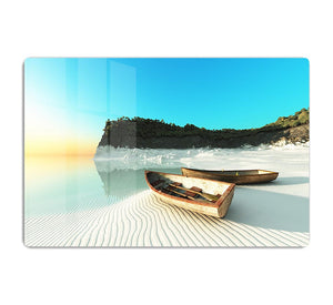 White Sand Boats HD Metal Print - Canvas Art Rocks - 1