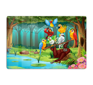 Wild animals in the forest illustration HD Metal Print