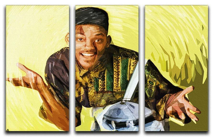 Will Smith 3 Split Panel Canvas Print