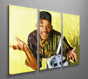 Will Smith 3 Split Panel Canvas Print - Canvas Art Rocks - 2