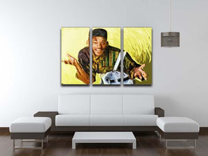 Will Smith 3 Split Panel Canvas Print - Canvas Art Rocks - 3