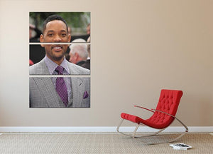 Will Smith In Suit 3 Split Panel Canvas Print - Canvas Art Rocks - 2