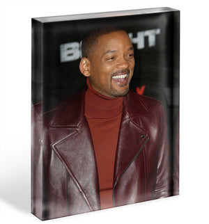 Will Smith in brown Acrylic Block - Canvas Art Rocks - 1
