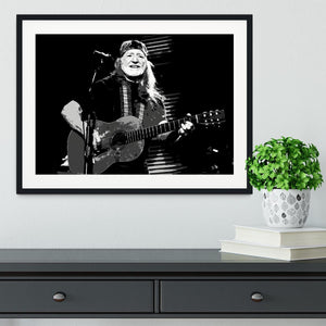 Willie Nelson Framed Print - Canvas Art Rocks - 1