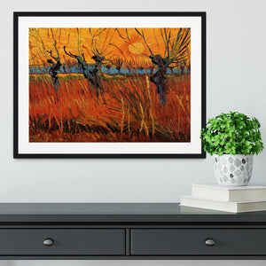 Willows at Sunset by Van Gogh Framed Print - Canvas Art Rocks - 1