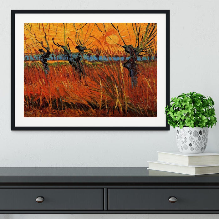 Willows at Sunset by Van Gogh Framed Print