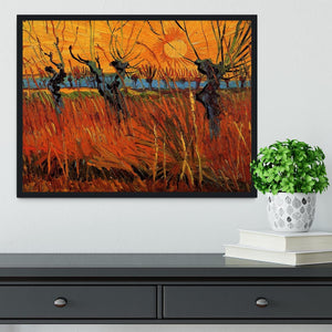 Willows at Sunset by Van Gogh Framed Print - Canvas Art Rocks - 2