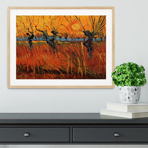 Willows at Sunset by Van Gogh Framed Print - Canvas Art Rocks - 3