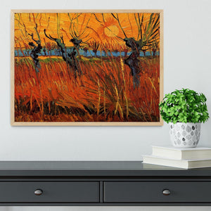 Willows at Sunset by Van Gogh Framed Print - Canvas Art Rocks - 4