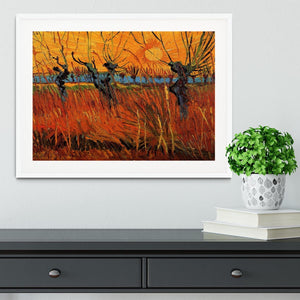 Willows at Sunset by Van Gogh Framed Print - Canvas Art Rocks - 5