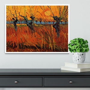 Willows at Sunset by Van Gogh Framed Print - Canvas Art Rocks -6