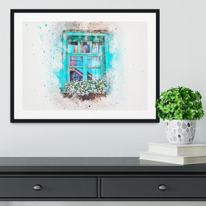 Window Painting Framed Print - Canvas Art Rocks - 1