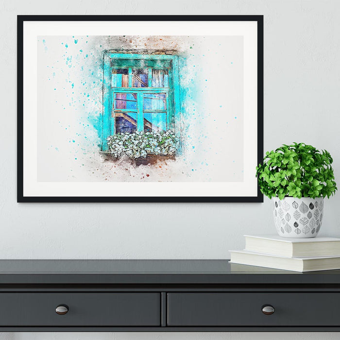 Window Painting Framed Print