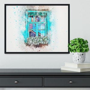Window Painting Framed Print - Canvas Art Rocks - 2
