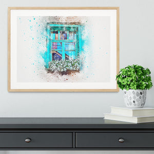 Window Painting Framed Print - Canvas Art Rocks - 3