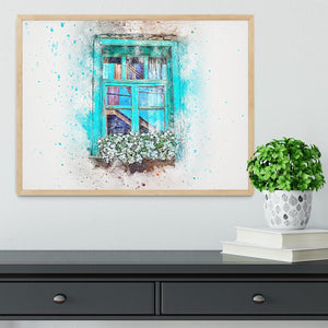 Window Painting Framed Print - Canvas Art Rocks - 4