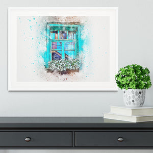 Window Painting Framed Print - Canvas Art Rocks - 5