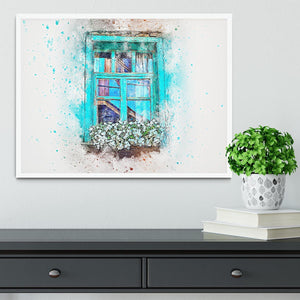 Window Painting Framed Print - Canvas Art Rocks -6