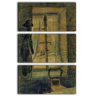 Window in the Bataille Restaurant by Van Gogh 3 Split Panel Canvas Print - Canvas Art Rocks - 1