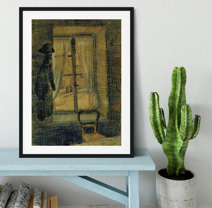 Window in the Bataille Restaurant by Van Gogh Framed Print