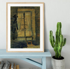 Window in the Bataille Restaurant by Van Gogh Framed Print - Canvas Art Rocks - 3