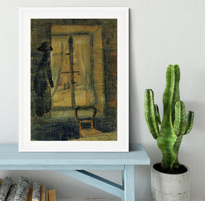 Window in the Bataille Restaurant by Van Gogh Framed Print - Canvas Art Rocks - 5