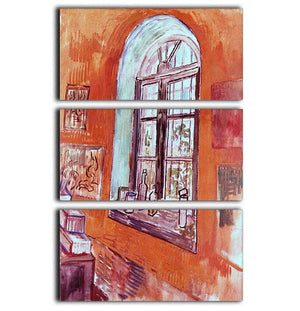 Window of Vincent s Studio at the Asylum by Van Gogh 3 Split Panel Canvas Print - Canvas Art Rocks - 1