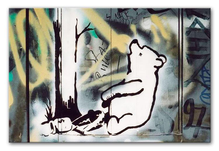 Banksy Winnie the Pooh Canvas Print or Poster