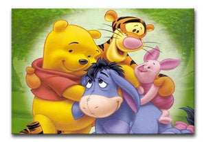 Winnie the Pooh and Friends Print - Canvas Art Rocks