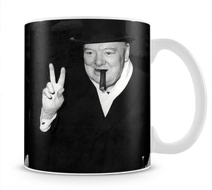 Winston Churchill giving the victory sign Mug - Canvas Art Rocks - 1
