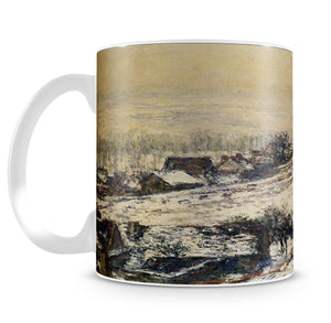 Winter At Giverny 1885 by Monet Mug - Canvas Art Rocks - 4