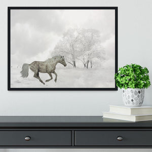 Winter Horse Framed Print - Canvas Art Rocks - 2