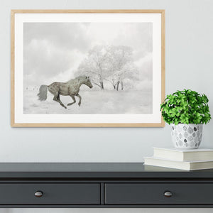 Winter Horse Framed Print - Canvas Art Rocks - 3