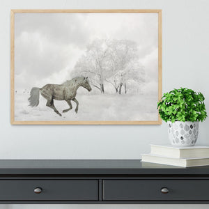 Winter Horse Framed Print - Canvas Art Rocks - 4
