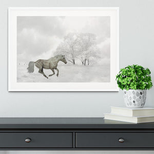 Winter Horse Framed Print - Canvas Art Rocks - 5