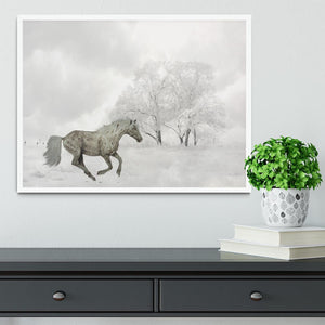Winter Horse Framed Print - Canvas Art Rocks -6