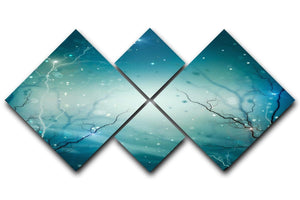Winter Nature Abstract 4 Square Multi Panel Canvas  - Canvas Art Rocks - 1