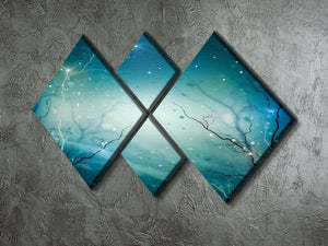 Winter Nature Abstract 4 Square Multi Panel Canvas  - Canvas Art Rocks - 2