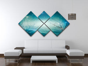 Winter Nature Abstract 4 Square Multi Panel Canvas  - Canvas Art Rocks - 3