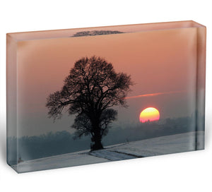 Winter Sunset Acrylic Block - Canvas Art Rocks - 1